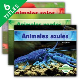 Cover: Animales de colores (Animal Colors) (Spanish Version)