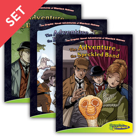 Cover: Graphic Novel Adventures of Sherlock Holmes Set 1