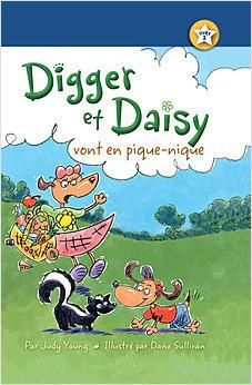 Cover: Digger et Daisy vont en pique-nique (Digger and Daisy Go on a Picnic)