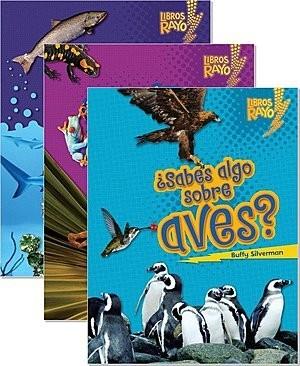 Cover: Libros Rayo — Conoce los grupos de animales (Lightning Bolt Books ™ — Meet the Animal Groups) — Interactive Books Set