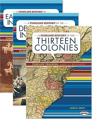 Cover: Timeline Trackers: America's Beginnings — Hardcover Set