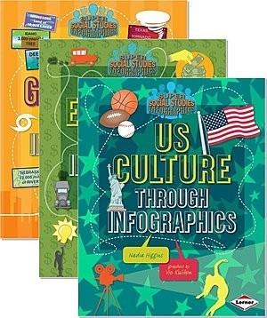 Cover: Super Social Studies Infographics — Paperback Set