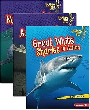 Cover: Lightning Bolt Books ™ — Shark World — eBook Set