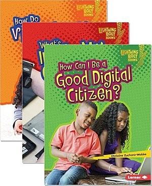 Cover: Lightning Bolt Books ™ — Our Digital World — Audisee®—On Level Set