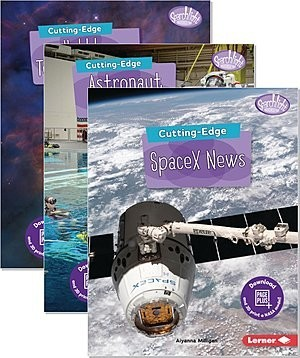 Cover: Searchlight Books ™ — New Frontiers of Space — Audisee®—On Level Set