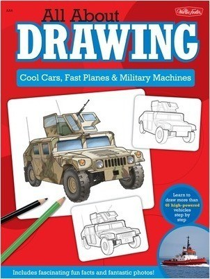 Cover: All About Drawing Cool Cars: Learn to draw more than 40 high-powered vehicles step by step