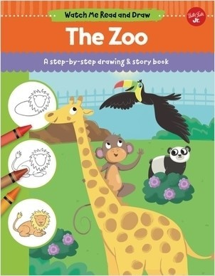 Cover: The Zoo: A step-by-step drawing & story book