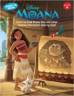 Cover: Learn to Draw Disney's Moana: Learn to draw Moana, Maui, and other favorite characters step by step!