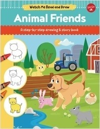Cover: Animal Friends: A step-by-step drawing & story book