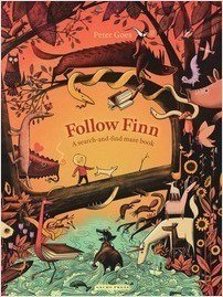 Cover: Follow Finn: A Search-and-Find Maze Book